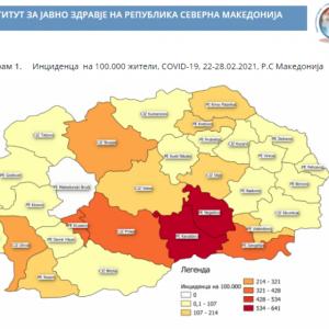Броят на заразените лица с коронавирус в Северна Македония засилено се увеличава