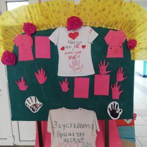 """""""Ден на розовата тениска"""" в босилеградското основно училище"""