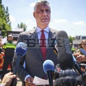 Косовският президент Хашим Тачи пристигна в Хага за показания пред Специалната прокуратура за военни престъпления
